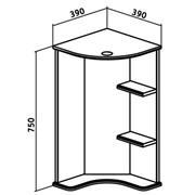 Зеркальный шкаф Угловой  Браво-40