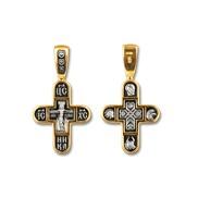 """Крест """"Распятие Христово № 08242"""", серебро 925° с позолотой"""