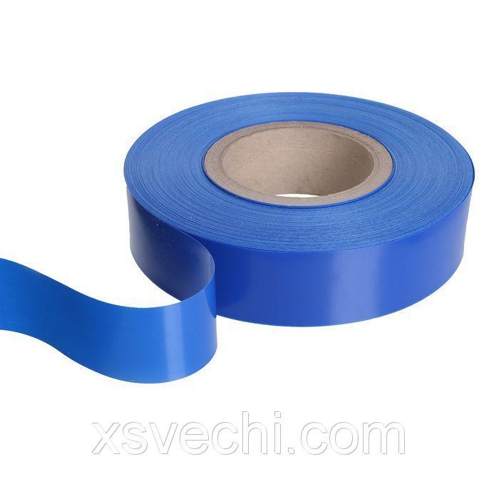Вставка в ценникодержатель, пластиковая, цвет синий, 100 м