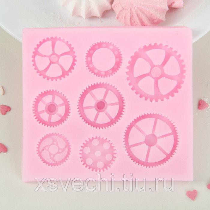 """Молд 10,9х9,8х1,2 см """"Механизм"""", цвет розовый"""