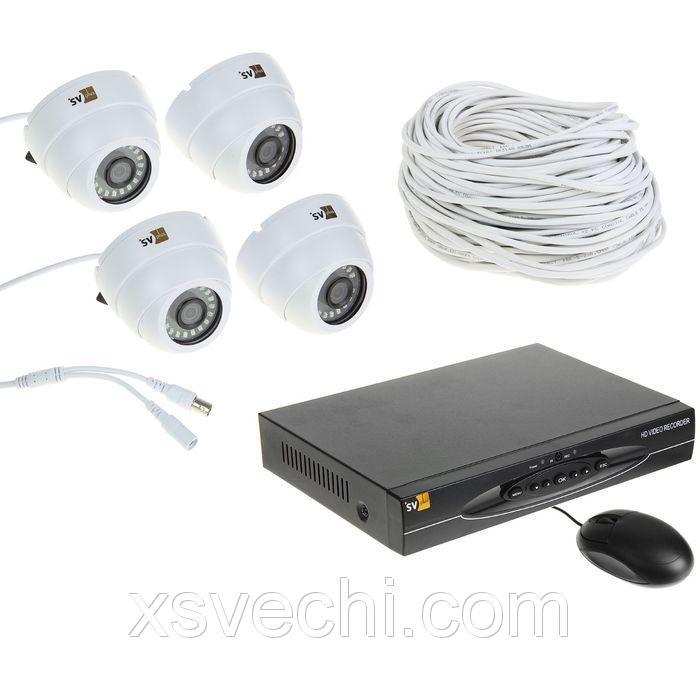 Комплект видеокамер внутренний Svplus VHD-Kit114H, AHD, 1 Мп, 4 внутренних камеры