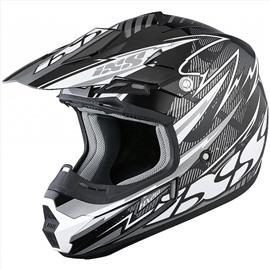 Шлем кроссовый HX 261 THUNDER серый S