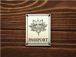"""Шильдик Passport """"Цветок лотоса"""""""