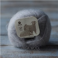 Пряжа Brushed lace Серебро 3079, 210м/25г, Mohair by canard, Solvgra