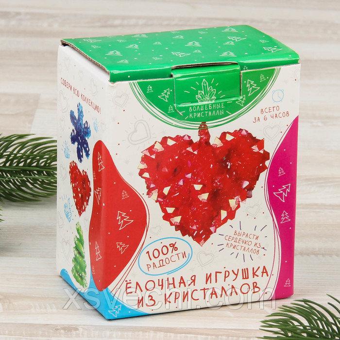 """Елочное украшение из кристаллов """"Сердце"""" CD-152-n"""