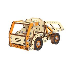 M-WOOD Конструктор 3D деревянный винтовой M-WOOD Грузовик-самосвал