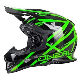 Шлем кроссовый 2Series THUNDERSTRUCK чёрно-зеленый M