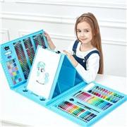 Детский набор для творчества 176 предметов голубой