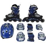 Набор: коньки роликовые, защита, шлем PW-780 (р.30-33)