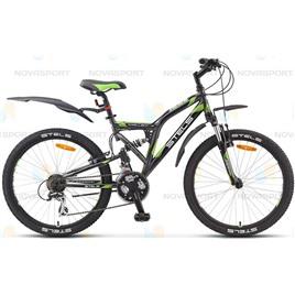 Велосипед Stels Challenger V 24 (2015) Серый/Черный/Зеленый , интернет-магазин Sportcoast.ru