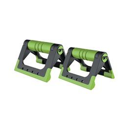 Упоры для отжиманий складные (черно-зеленые)