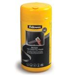 Салфетки влажные для экранов и оптики Fellowes 100 шт в тубе FS-99703