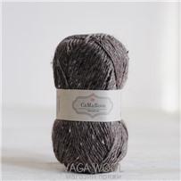 Пряжа Lama Tweed Кофейный 6450, 100м/50г, CaMaRose, Lysebrun