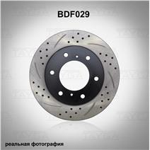 BDF029. Передняя ось. Перфорация + слоты