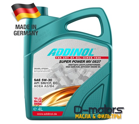 ADDINOL SUPER POWER MV 0537 5W-30 (4л)