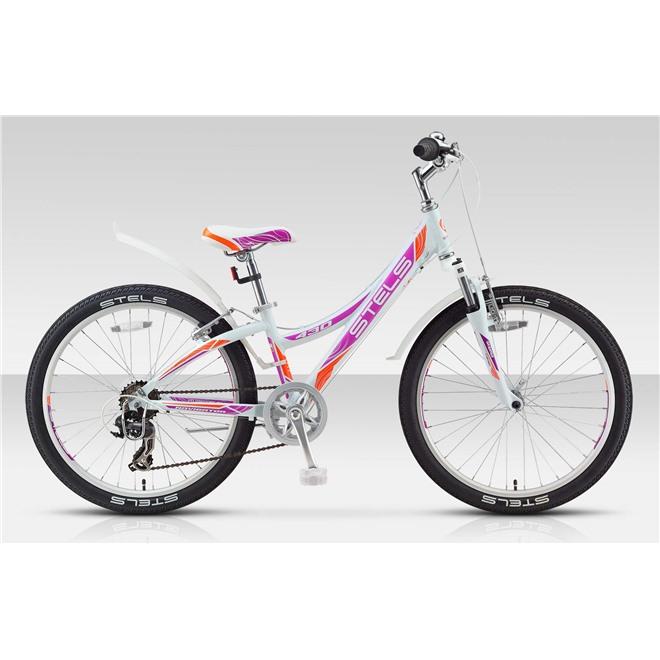 Велосипед Stels Navigator 430 V 24 (2016) Белый/Фиолетовый/Оранжевый , интернет-магазин Sportcoast.ru