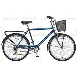 Велосипед Stels Navigator 250 Gent 26 (2016) Серый/Синий/Черный (с корзиной) , интернет-магазин Sportcoast.ru