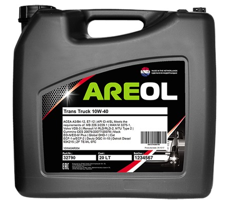 AREOL Trans Truck 10W-40 (20 л.)