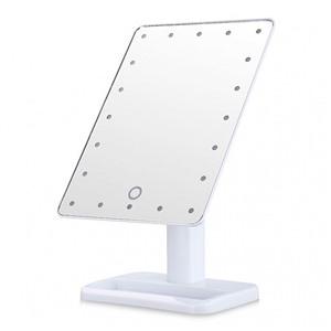 Косметическое зеркало с подсветкой large led Белое