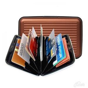 Алюминиевый рифленый кошелек Aluma Wallet (Алюма Валет) цвет коричневый, оригинал в коробочке.