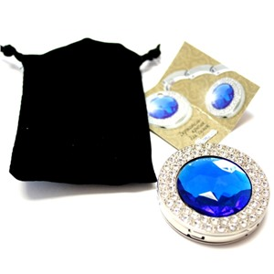 Держатель-крючок для сумок Glamour Гламур (синий), Любая женщина придет в восторг от такого подарка!