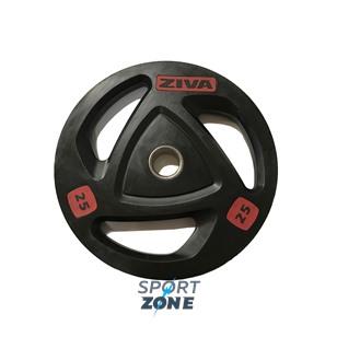 Диск обрезиненный 25 кг ZIVA серии SELECT