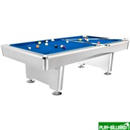 Weekend Бильярдный стол для пула «Dynamic Triumph» 7 ф (матово-белый) в комплекте, аксессуары + сукно, интернет-магазин товаров для бильярда Play-billiard.ru