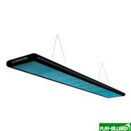"""Лампа плоская люминесцентная """"Longoni Nautilus"""" (черная, бирюзовый отражатель, 205x31x6см), интернет-магазин товаров для бильярда Play-billiard.ru. Фото 1"""
