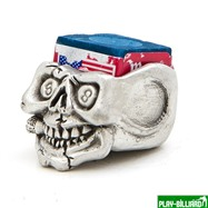 Weekend Пенал для мела «Peweter», череп, интернет-магазин товаров для бильярда Play-billiard.ru. Фото 1