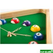 Weekend Часы настенные «Треугольник» (дуб) 40 см х 35 см, деревянные, интернет-магазин товаров для бильярда Play-billiard.ru. Фото 5