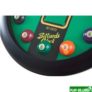 """Часы настенные """"12 шаров"""" D32 см (черные), пластик, интернет-магазин товаров для бильярда Play-billiard.ru. Фото 9"""