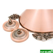Лампа на три плафона «Elegance» (бронзовая штанга, бронзовый плафон D35см), интернет-магазин товаров для бильярда Play-billiard.ru. Фото 2