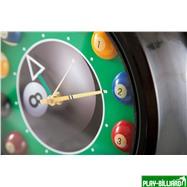 Weekend Часы настенные «12 шаров» D30 см (черные), металл, интернет-магазин товаров для бильярда Play-billiard.ru. Фото 3