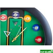 """Часы настенные """"12 шаров"""" D32 см (черные), пластик, интернет-магазин товаров для бильярда Play-billiard.ru. Фото 7"""