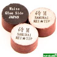 """Наклейка для кия """"Rei Samurai White"""" (M) 14 мм, интернет-магазин товаров для бильярда Play-billiard.ru. Фото 1"""