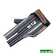 """Перчатка бильярдная """"K-1"""" (черная, серебро, вставка кожа), интернет-магазин товаров для бильярда Play-billiard.ru. Фото 1"""