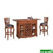 Weekend Барный стол «Norman» (на колесах), интернет-магазин товаров для бильярда Play-billiard.ru. Фото 1
