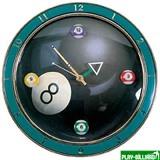 """Часы настенные """"4 шара"""" D30см, интернет-магазин товаров для бильярда Play-billiard.ru"""