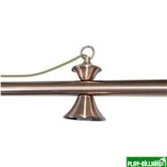 Weekend Лампа на пять плафонов «Elegance» (бронзовая штанга, бронзовый плафон D35см), интернет-магазин товаров для бильярда Play-billiard.ru. Фото 4