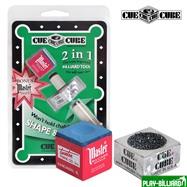 Cue Cube Corporation Махровка «Cue Cube» с мелом (блистер), интернет-магазин товаров для бильярда Play-billiard.ru. Фото 1