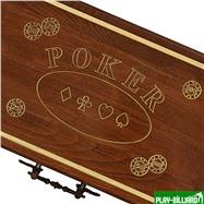 Резной кейс POKER на 300 фишек, Haleyan, интернет-магазин товаров для бильярда Play-billiard.ru. Фото 3