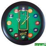 Weekend Часы настенные «12 шаров» D32 см (черные), пластик, интернет-магазин товаров для бильярда Play-billiard.ru