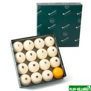 Aramith Saluc Комплект шаров 68 мм «Aramith Premier», желтый биток, интернет-магазин товаров для бильярда Play-billiard.ru. Фото 1