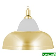 Лампа на один плафон «Crown» (золотистая штанга, золотистый плафон D38см), интернет-магазин товаров для бильярда Play-billiard.ru