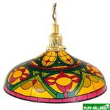 Weekend Лампа на один плафон «Colorful» (золотистая чашка, цветной плафон D44см), интернет-магазин товаров для бильярда Play-billiard.ru