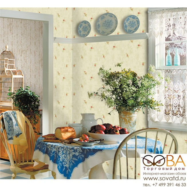 Обои Seabrook CY10811 Garden Diary купить по лучшей цене в интернет магазине стильных обоев Сова ТД. Доставка по Москве, МО и всей России