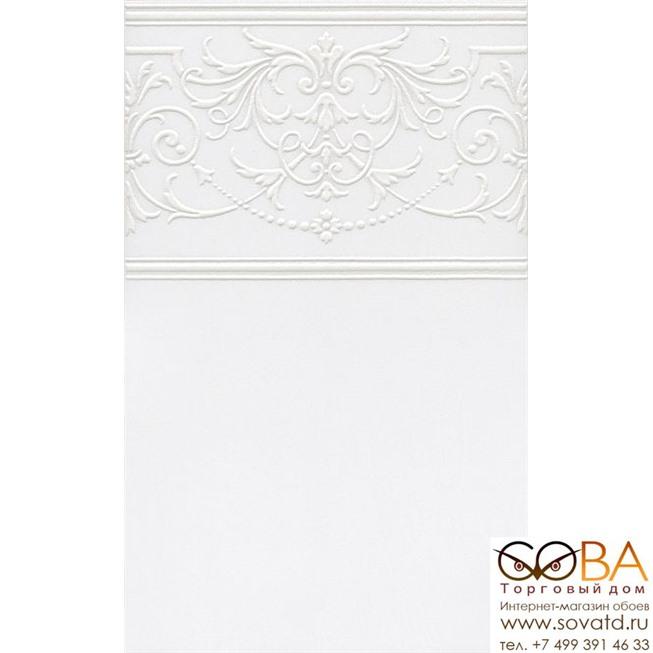 Декор Kerama Marazzi  Петергоф белый 25х40 купить по лучшей цене в интернет магазине стильных обоев Сова ТД. Доставка по Москве, МО и всей России