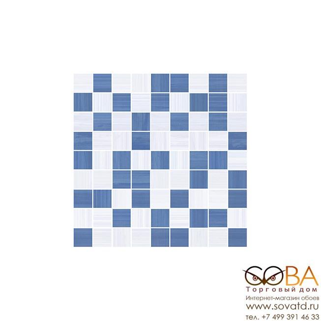 Мозаика Stripes  синий+серый 30х30 купить по лучшей цене в интернет магазине стильных обоев Сова ТД. Доставка по Москве, МО и всей России