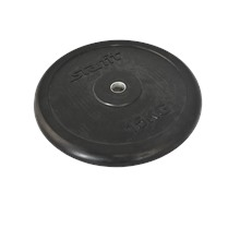 Диск обрезиненный BB-202, d=26 мм, черный, 15 кг