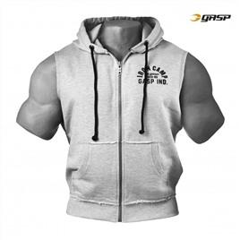 Безрукавка GASP Throwback Zip Hood, Grey Melange